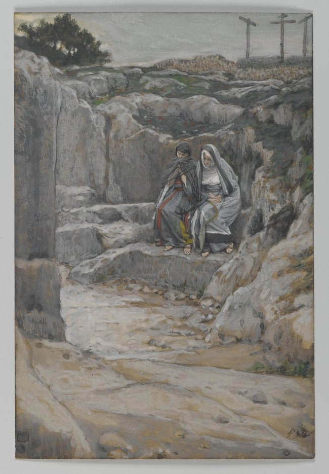 James Tissot by The Two Marys Watch the Tomb