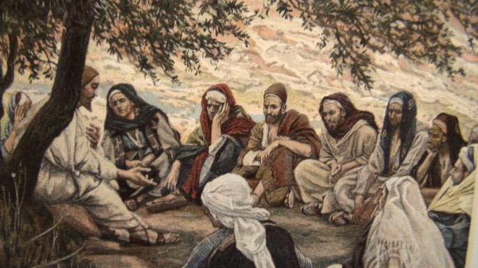 Jesus teaching the twelve Apostles