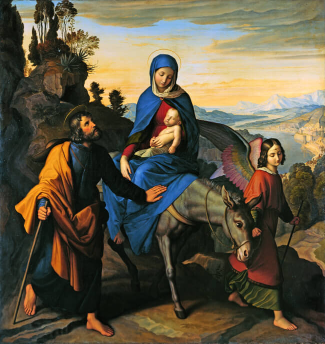 The Flight into Egypt - Julius Schnorr von Carolsfeld