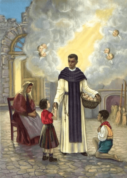 St. Martin de Porres caring for the poor